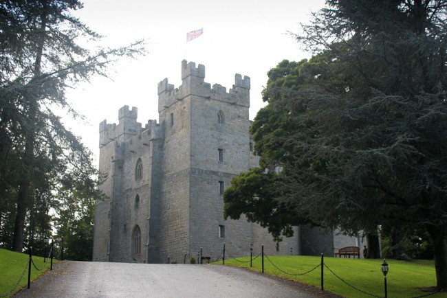The approach to Langley Castle provides an impressive first view.