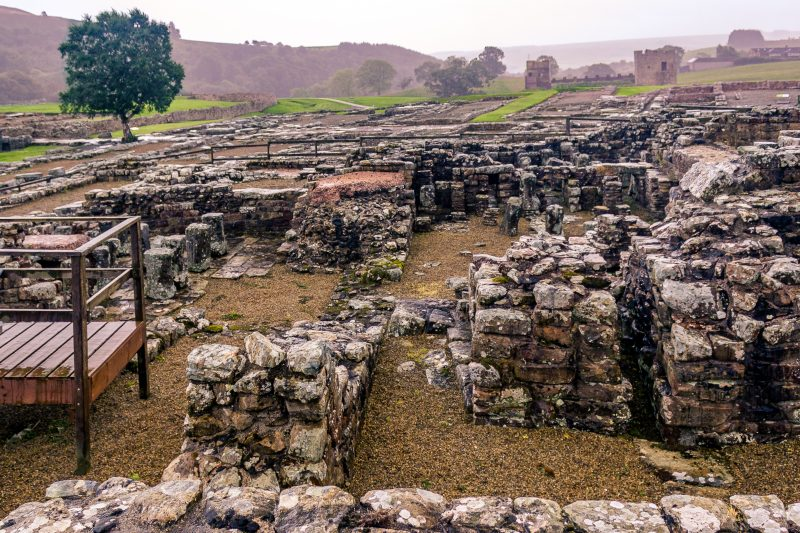 The Bath House at Vindolanda - Roman Fort in Northumberland UK