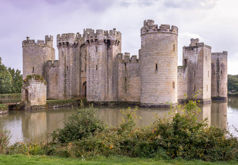 Bodiam Castle in the heart of the British Countryside is a fine example of a Medieval moated castle.