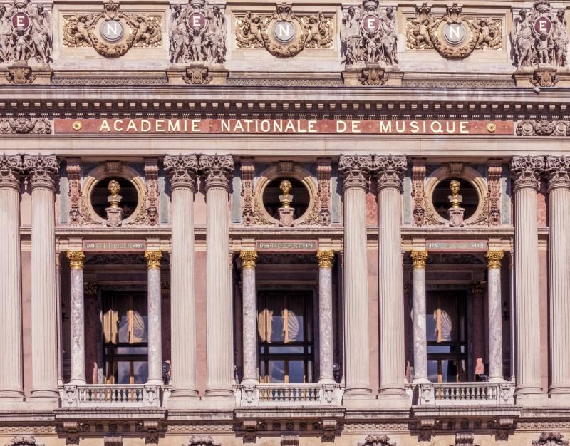 Facade of Palais Garnier in Paris