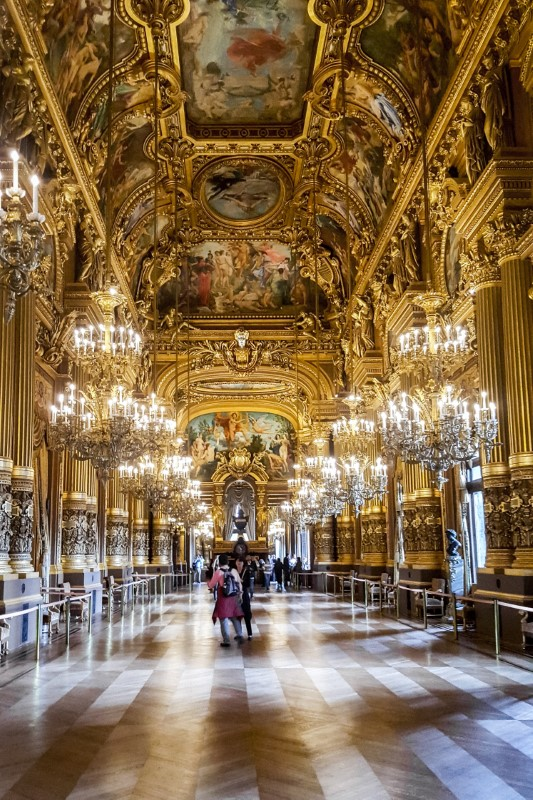 The awe-inspiring Grand Foyer of the Palais Garnier