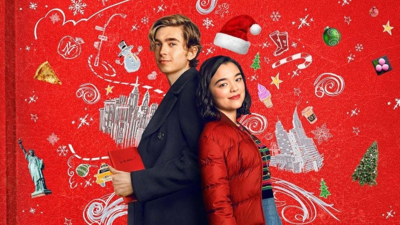 Austin Abrams and Midori Francis from Dash and Lily