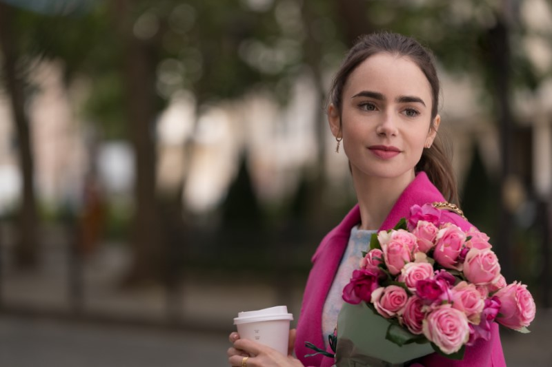 "Lily Collins from ""Emily in Paris"""