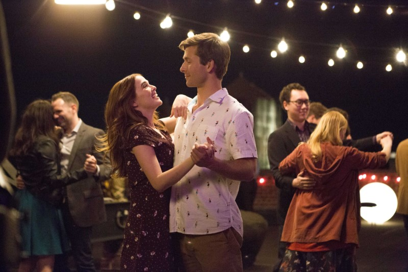 "Zoey Deutch and Glen Powell from the movie ""Set it Up"" available on Netflix"